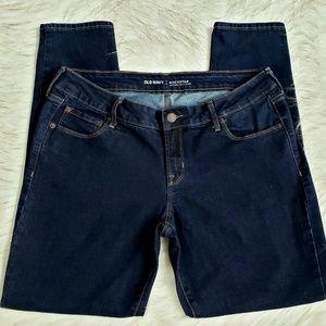 Old Navy Rockstar Dark Stretch Jeans Womens 14